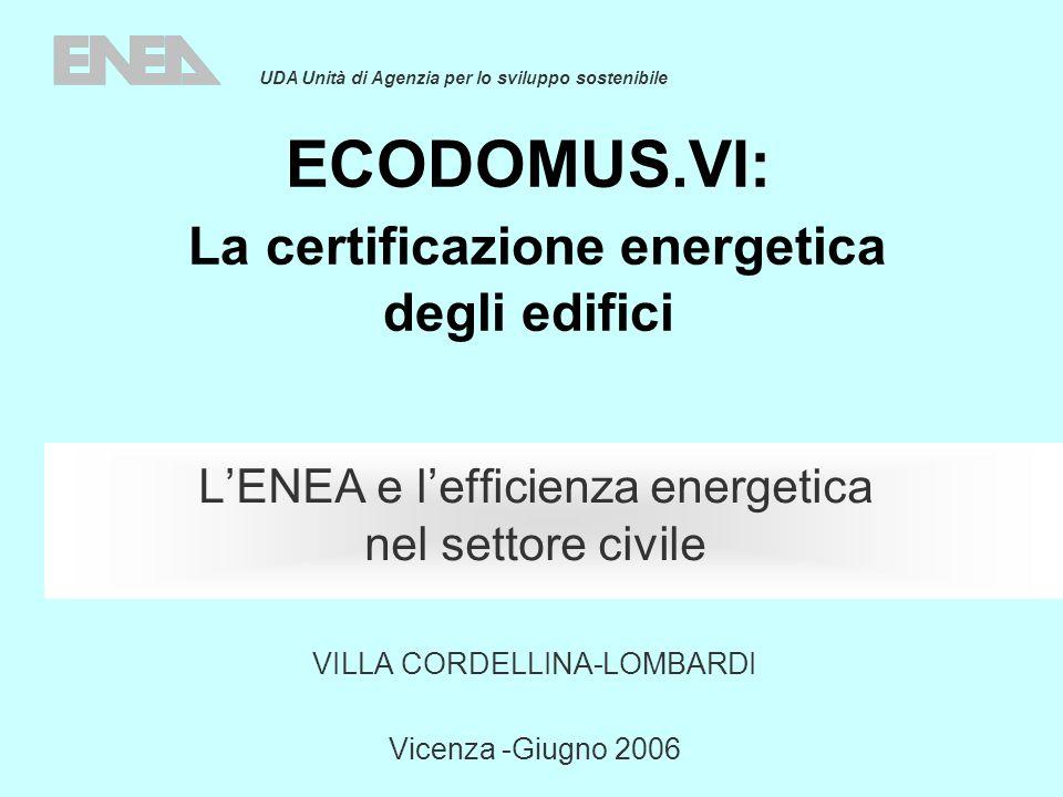 ECODOMUS.VI: La certificazione energetica degli edifici