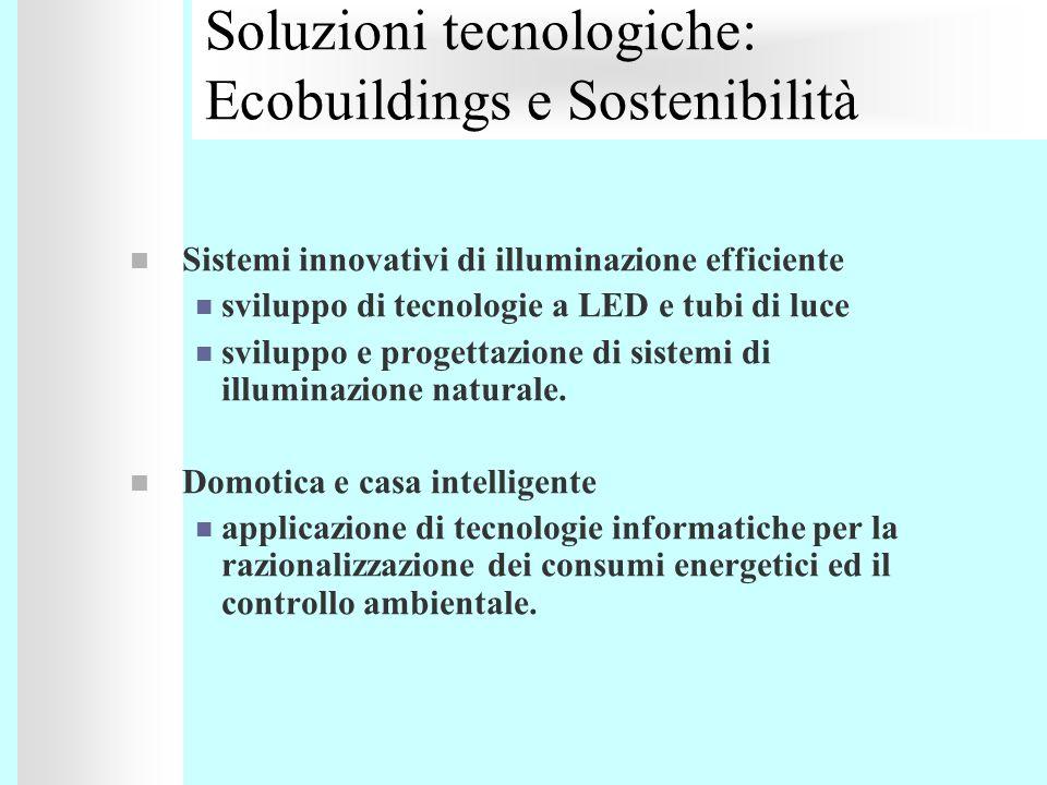Soluzioni tecnologiche: Ecobuildings e Sostenibilità