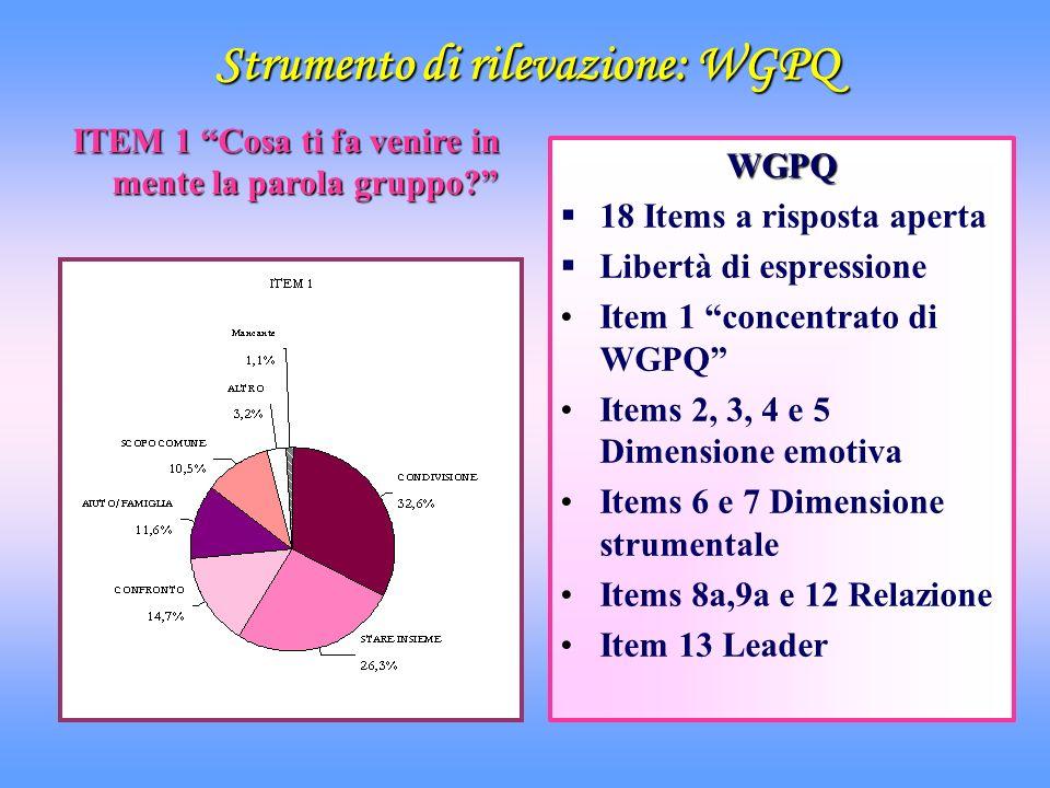 Strumento di rilevazione: WGPQ