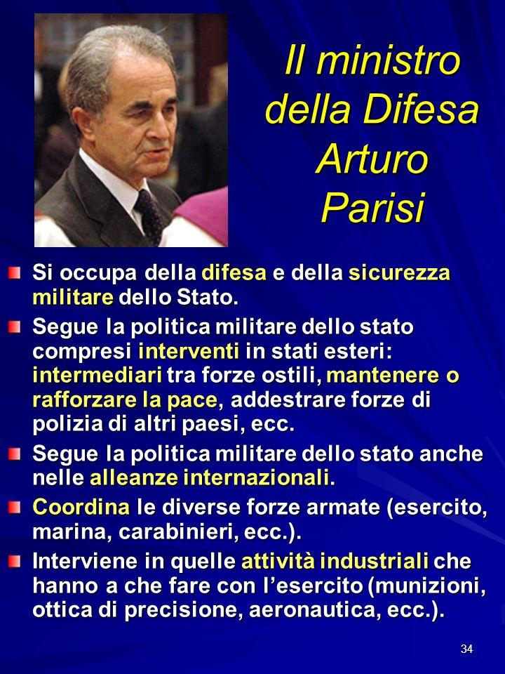 Il ministro della Difesa Arturo Parisi