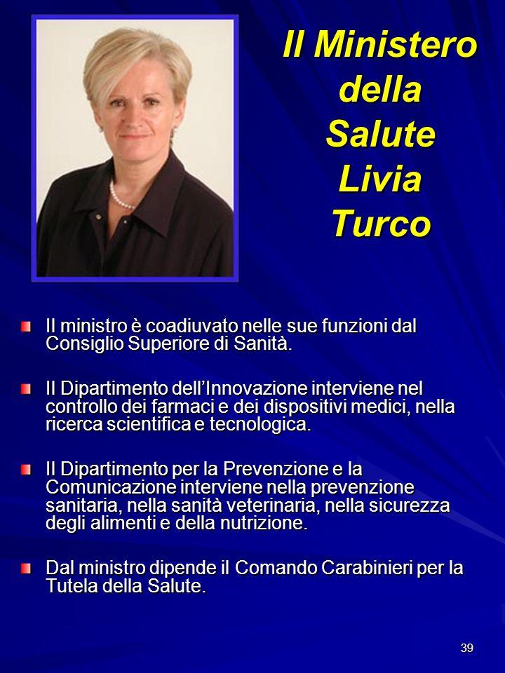Il Ministero della Salute Livia Turco
