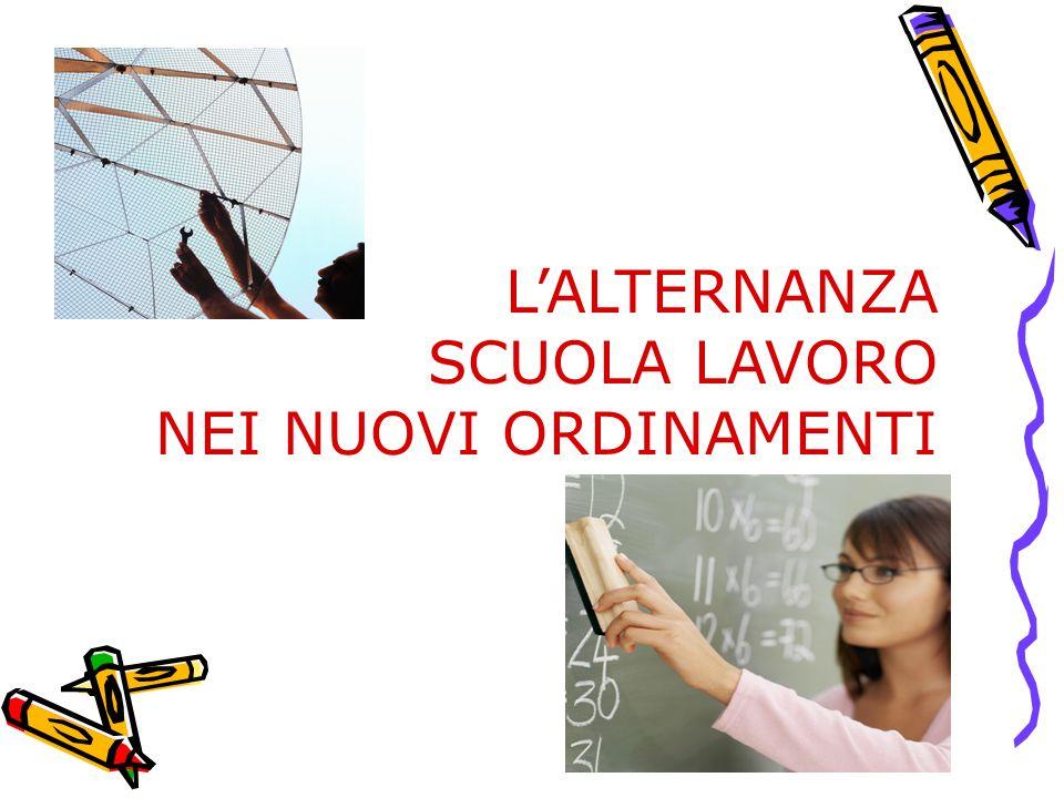 L'ALTERNANZA SCUOLA LAVORO NEI NUOVI ORDINAMENTI