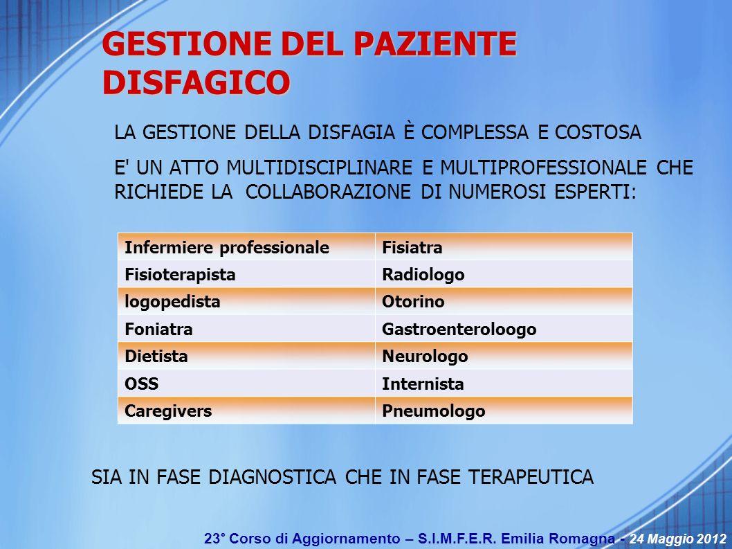 GESTIONE DEL PAZIENTE DISFAGICO