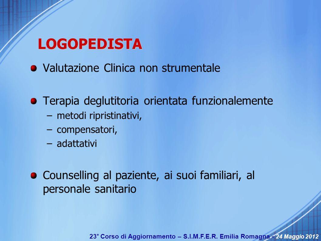 LOGOPEDISTA Valutazione Clinica non strumentale