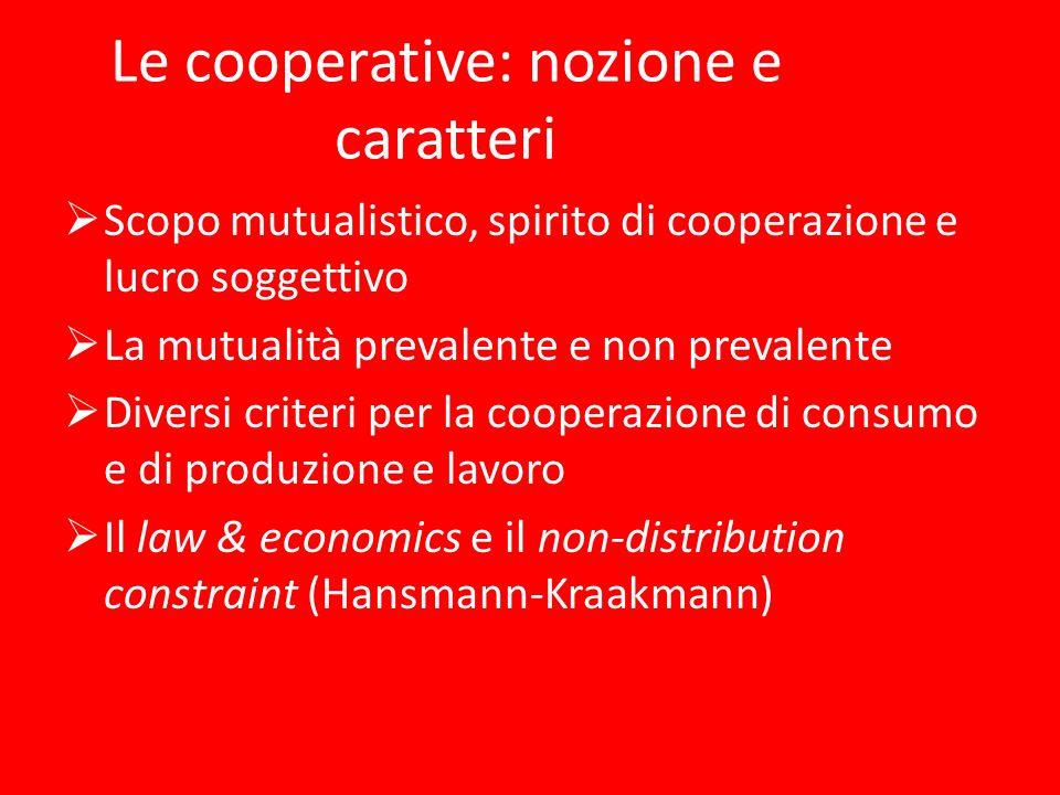 Le cooperative: nozione e caratteri