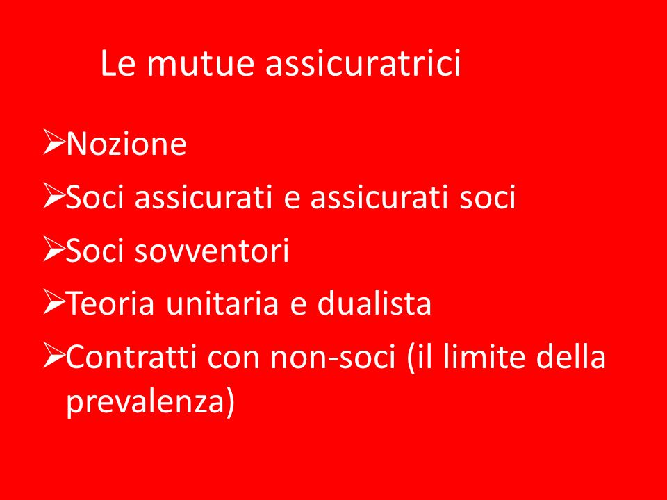 Le mutue assicuratrici