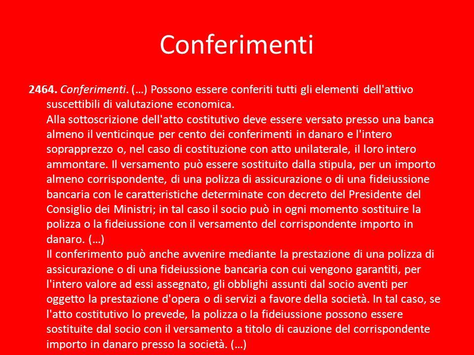 Conferimenti