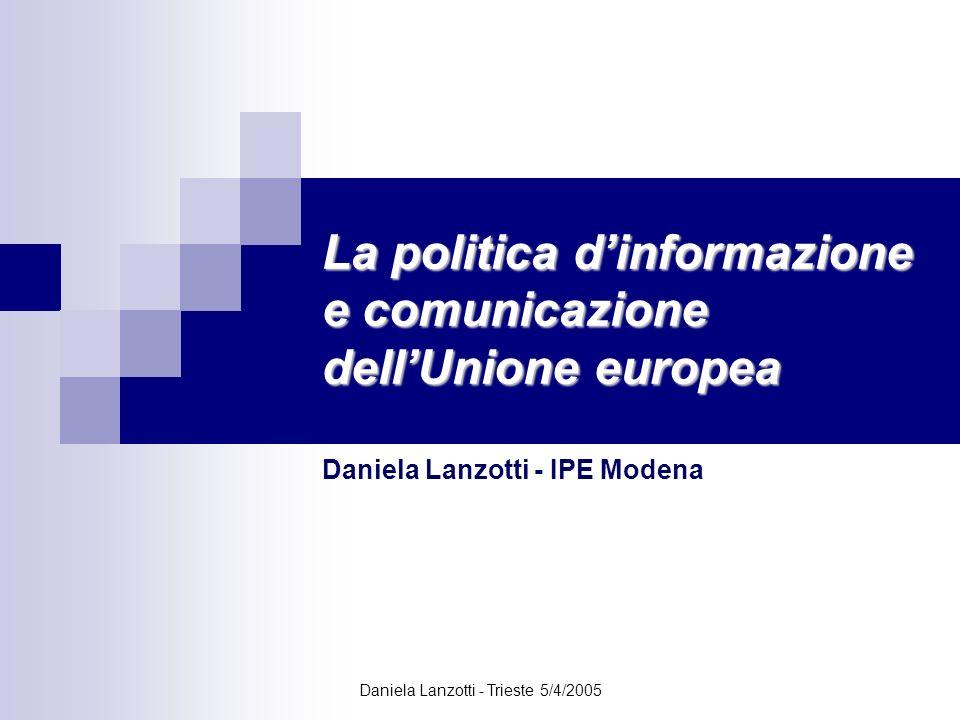 La politica d'informazione e comunicazione dell'Unione europea