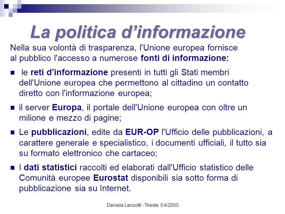 La politica d'informazione