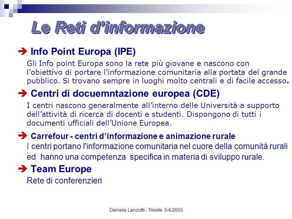 Le Reti d'informazione