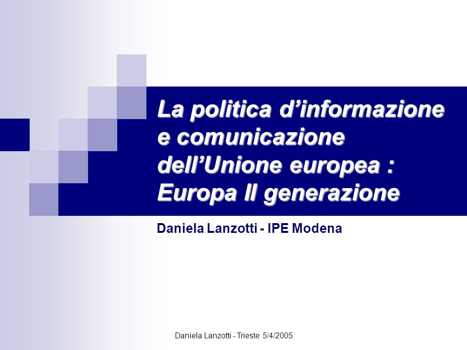 Daniela Lanzotti - IPE Modena