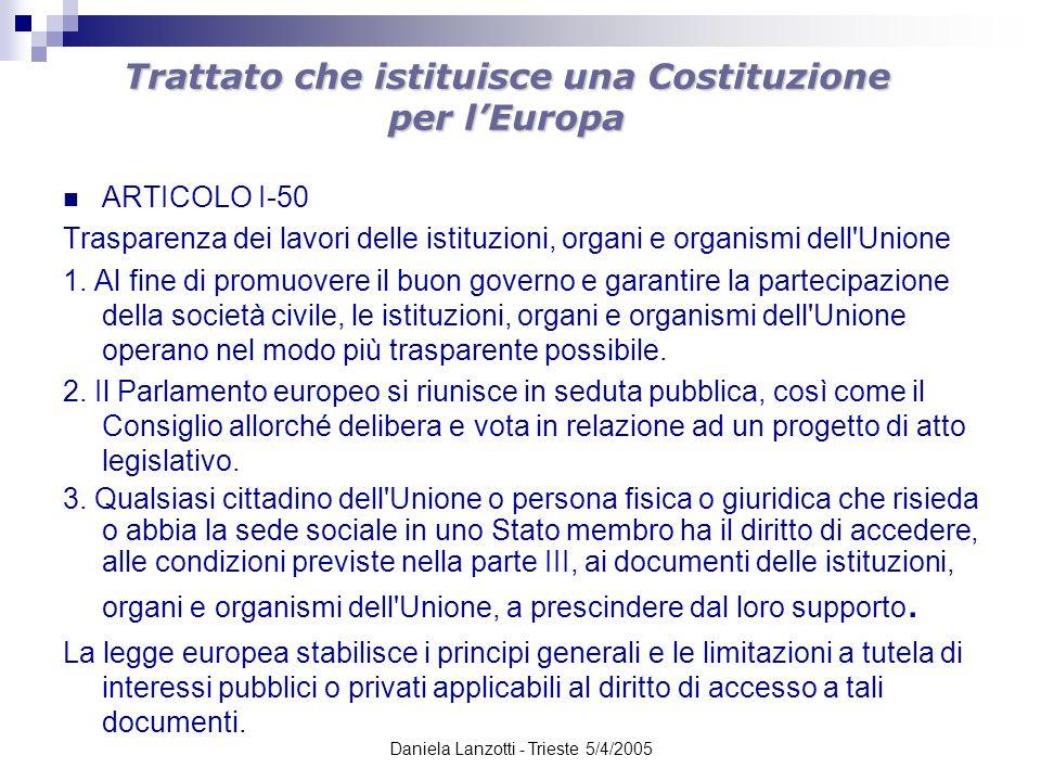 Trattato che istituisce una Costituzione per l'Europa