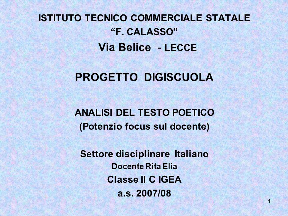 Via Belice - LECCE PROGETTO DIGISCUOLA