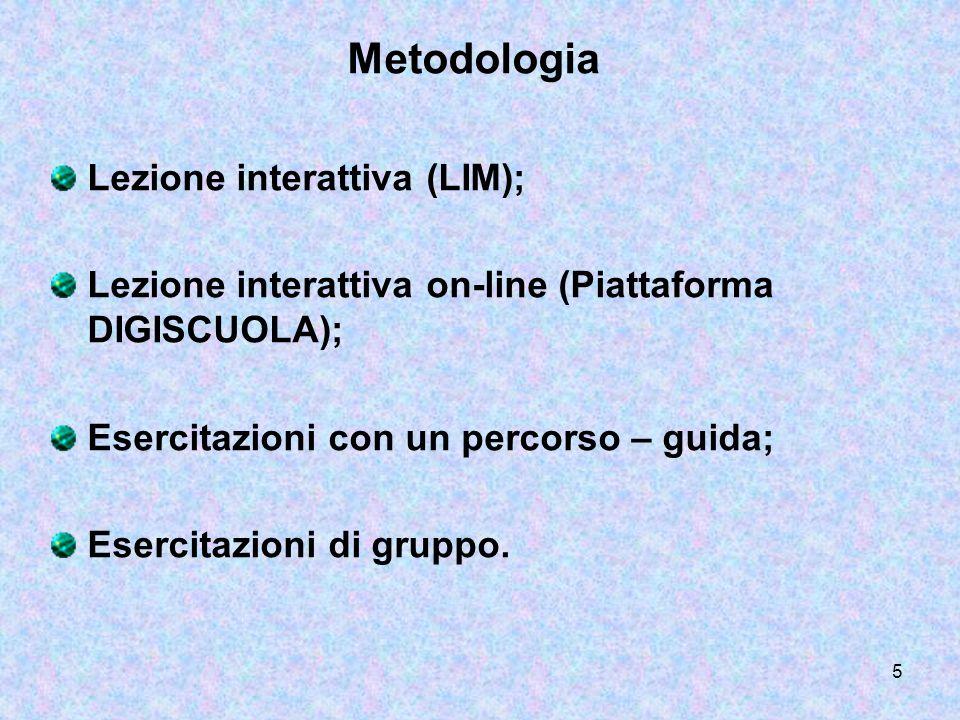 Metodologia Lezione interattiva (LIM);