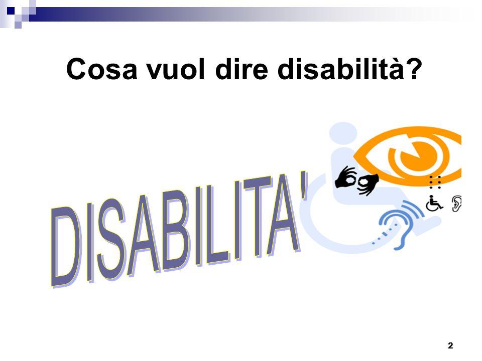 Cosa vuol dire disabilità