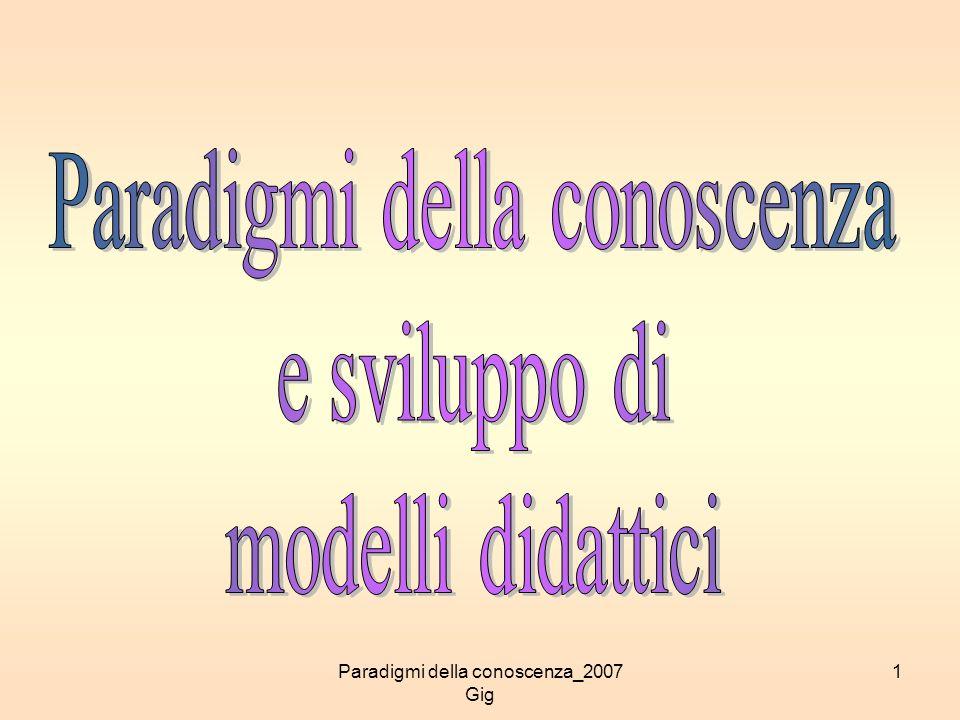 Paradigmi della conoscenza e sviluppo di modelli didattici