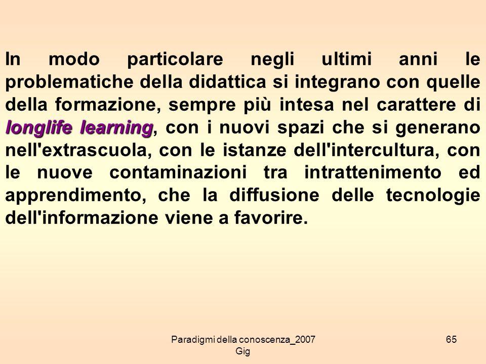 Paradigmi della conoscenza_2007 Gig