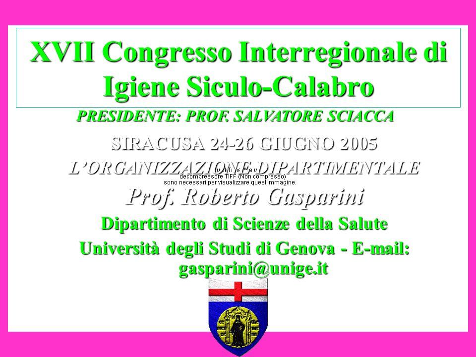 XVII Congresso Interregionale di Igiene Siculo-Calabro