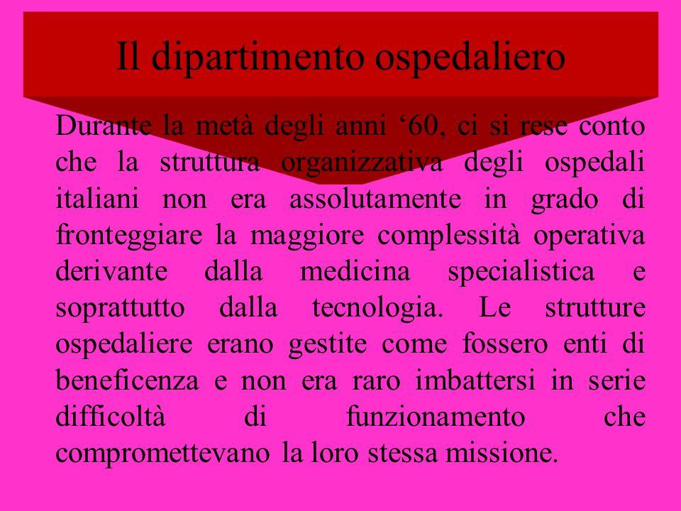 Il dipartimento ospedaliero