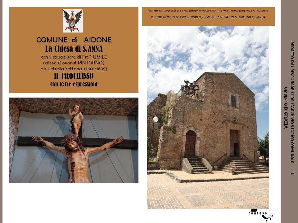 COMUNE di AIDONE La Chiesa di S.ANNA IL CROCIFISSO