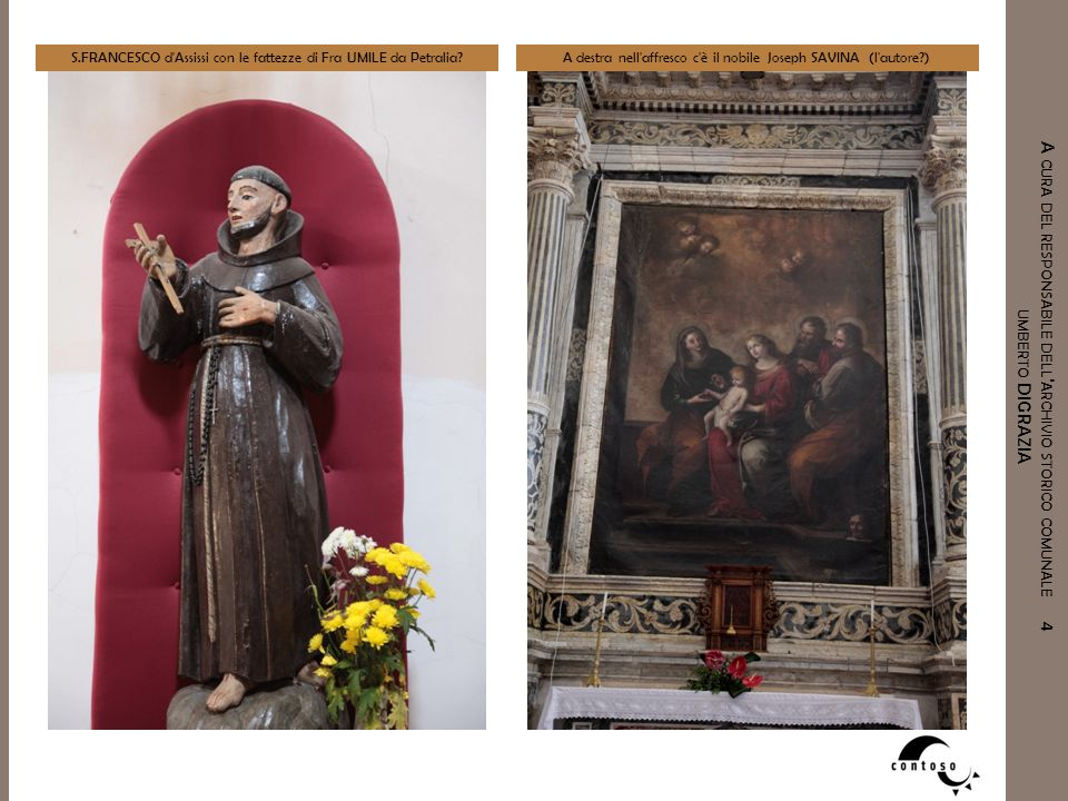 S.FRANCESCO d Assissi con le fattezze di Fra UMILE da Petralia