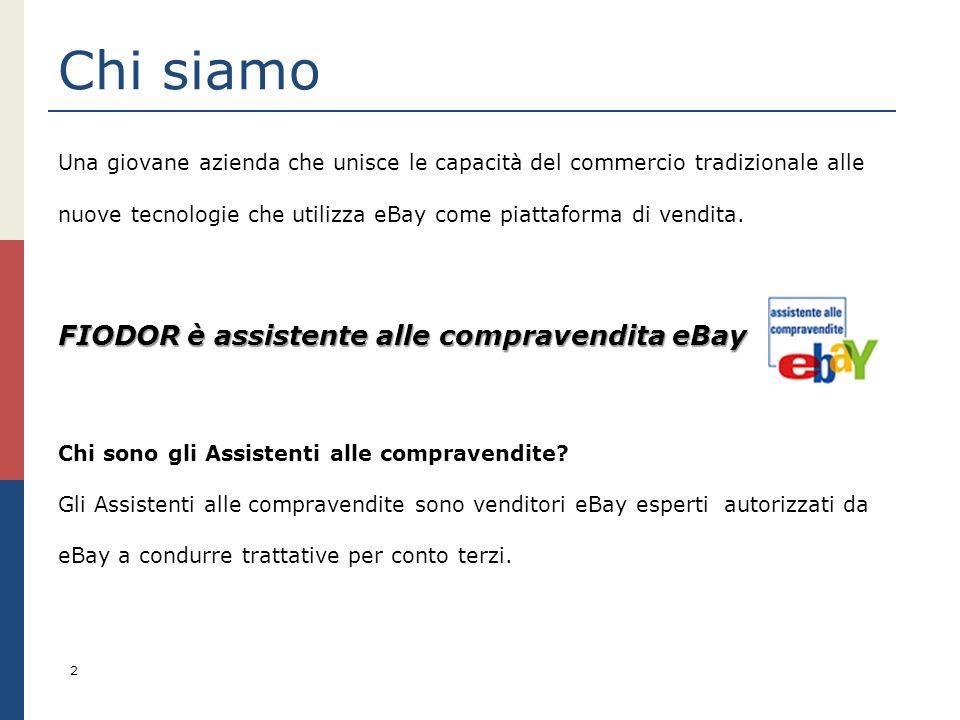 Chi siamo FIODOR è assistente alle compravendita eBay