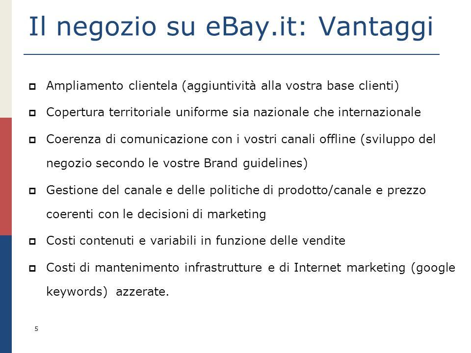 Il negozio su eBay.it: Vantaggi