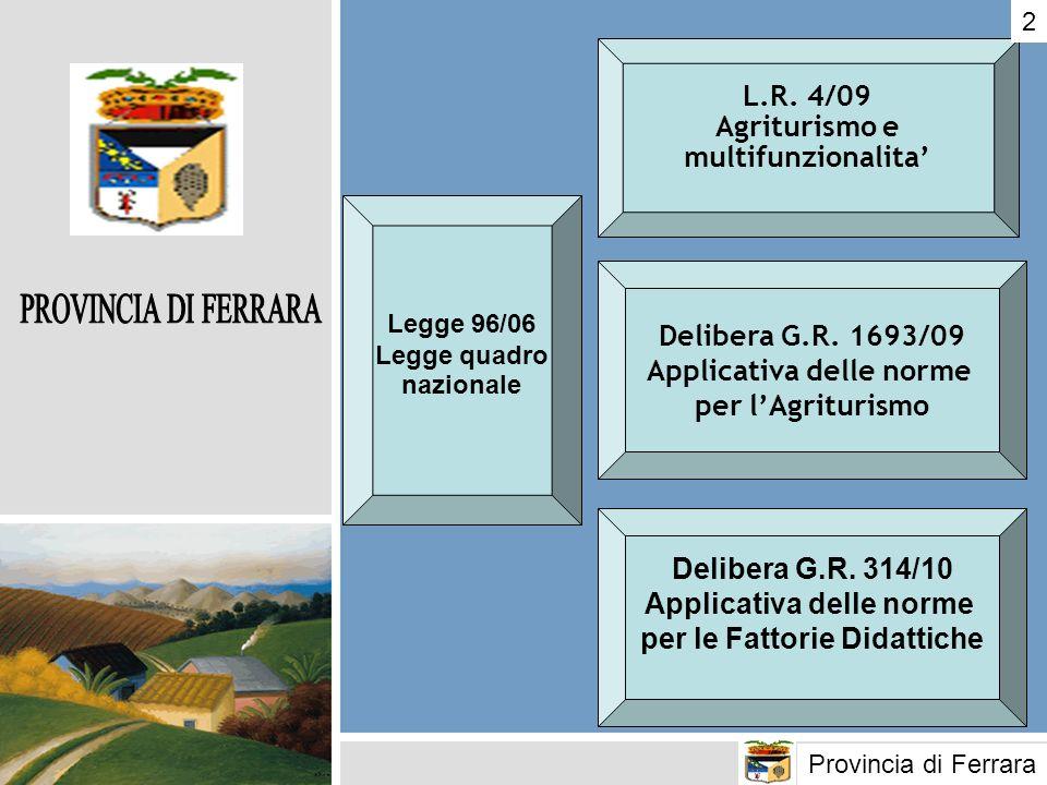 Applicativa delle norme per l'Agriturismo