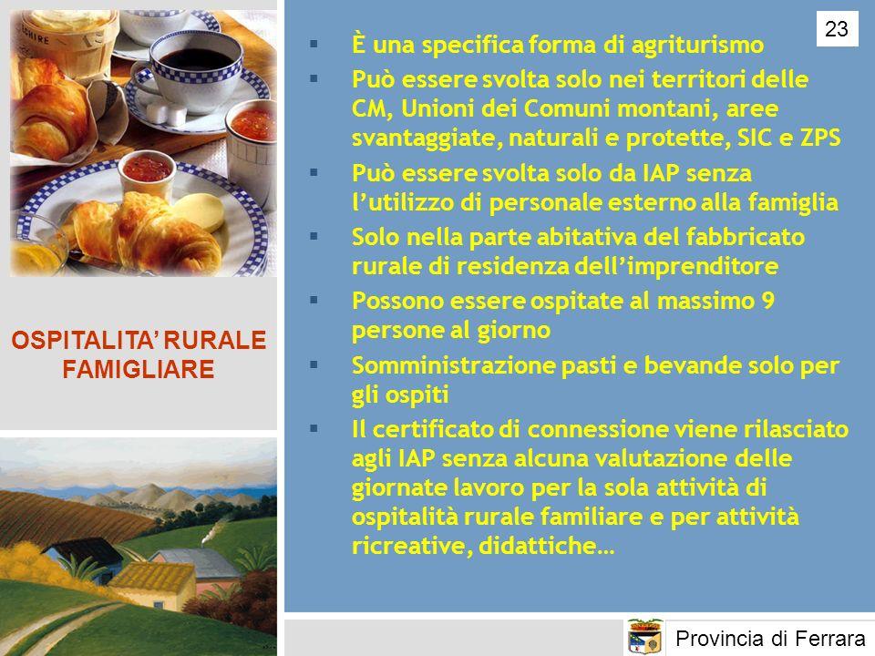 OSPITALITA' RURALE FAMIGLIARE
