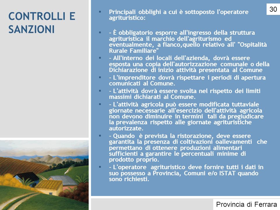 CONTROLLI E SANZIONI 30 Provincia di Ferrara