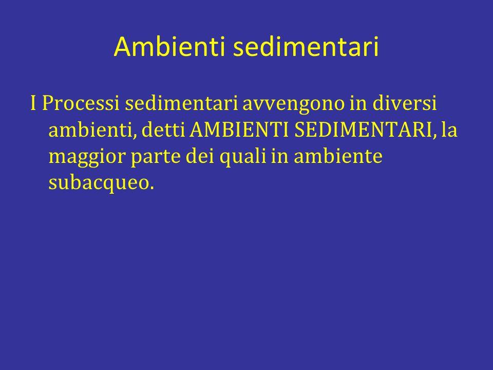 Ambienti sedimentari