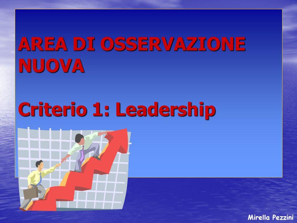 AREA DI OSSERVAZIONE NUOVA Criterio 1: Leadership