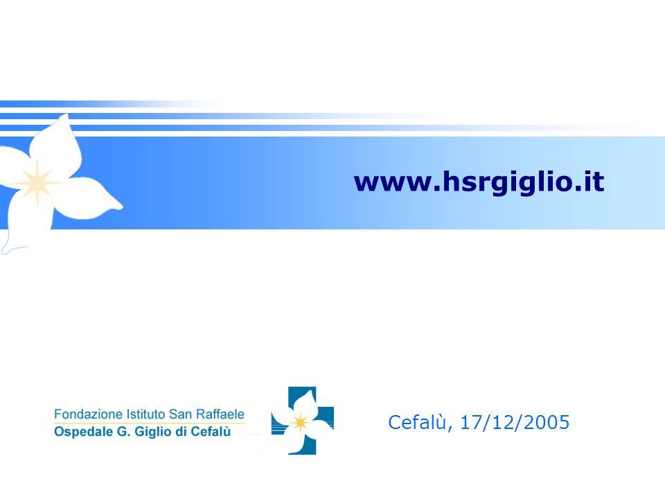 www.hsrgiglio.it Cefalù, 17/12/2005