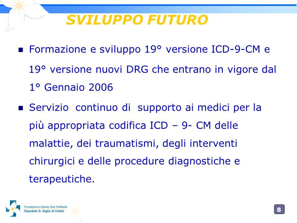 SVILUPPO FUTURO Formazione e sviluppo 19° versione ICD-9-CM e