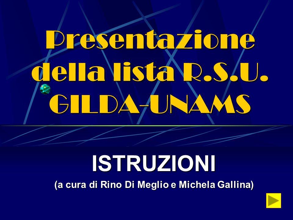 Presentazione della lista R.S.U. GILDA-UNAMS