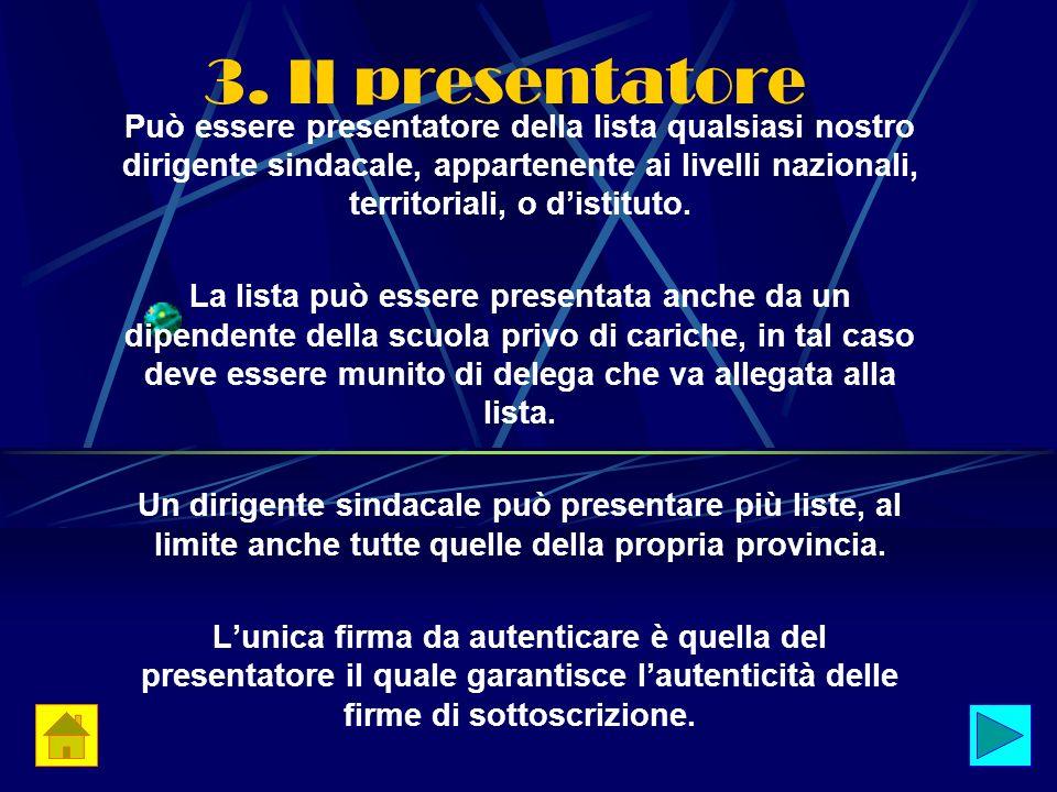 3. Il presentatore