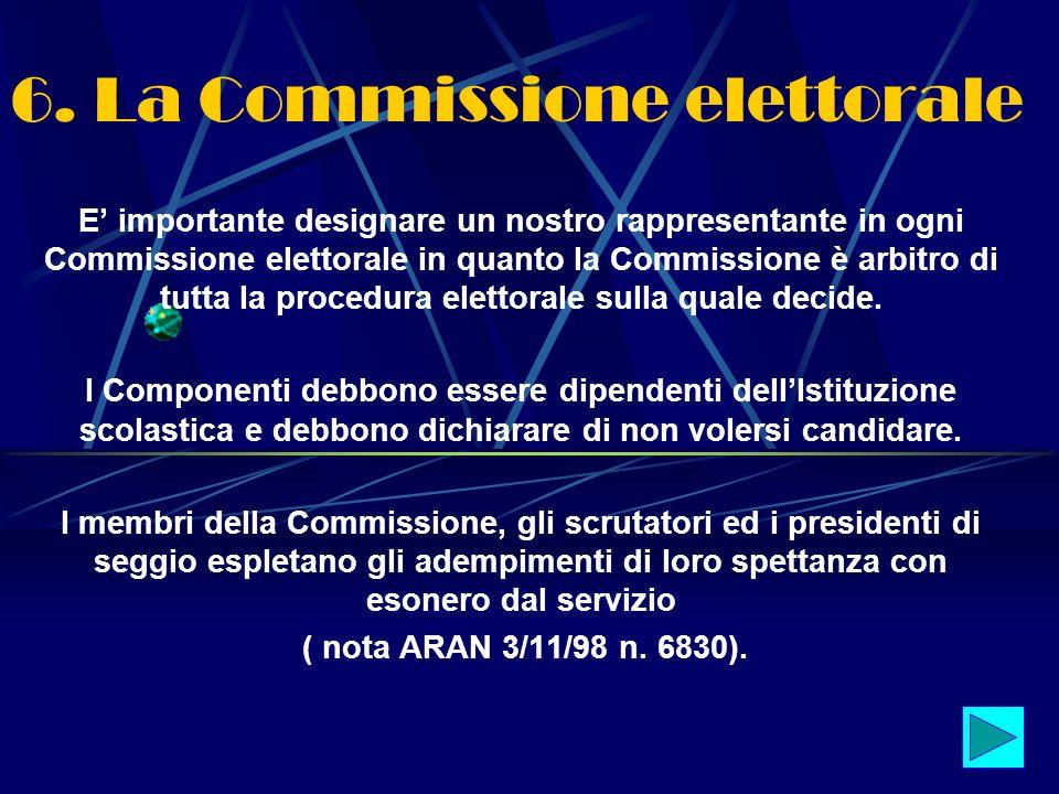 6. La Commissione elettorale
