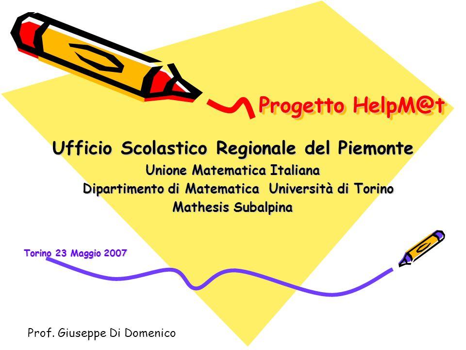Progetto HelpM@t Ufficio Scolastico Regionale del Piemonte