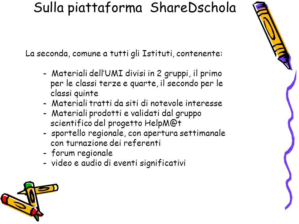 Sulla piattaforma ShareDschola