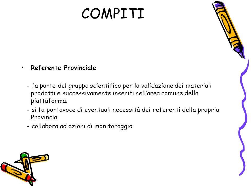 COMPITI Referente Provinciale