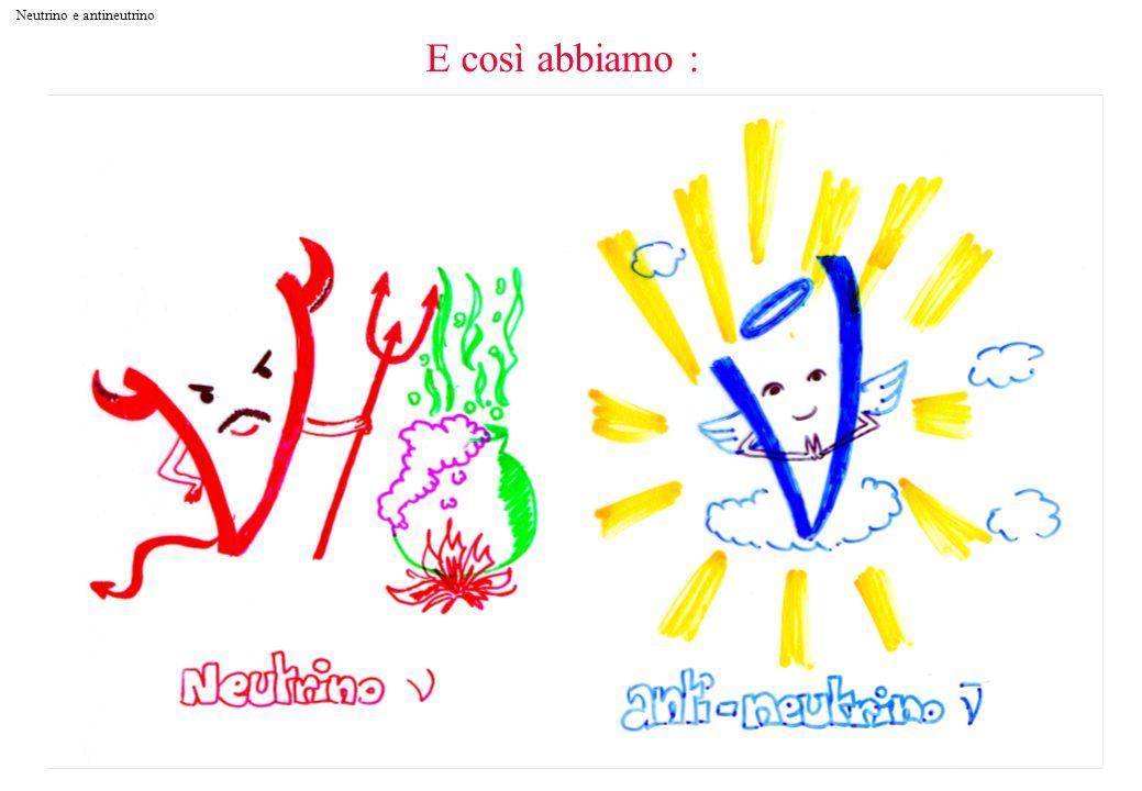 Neutrino e antineutrino