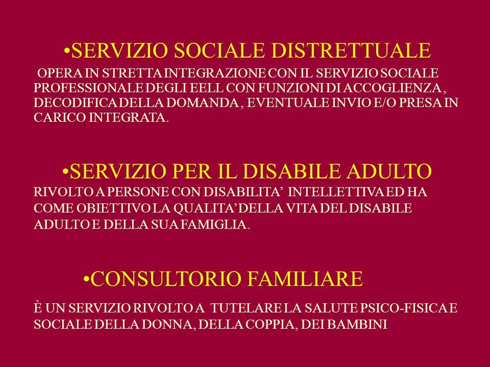 SERVIZIO SOCIALE DISTRETTUALE