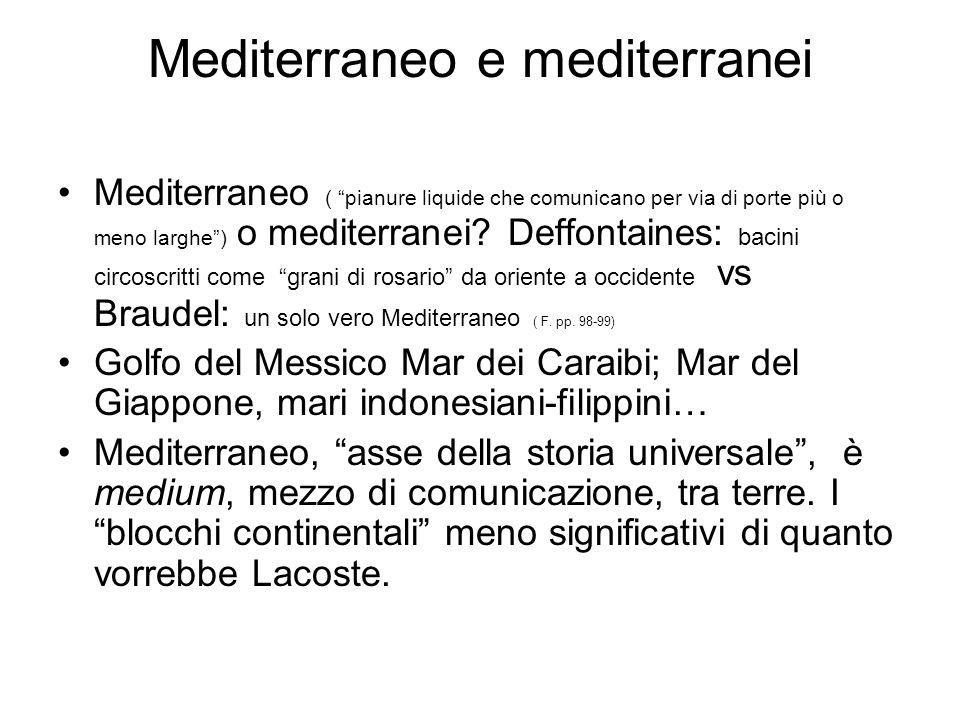 Mediterraneo e mediterranei