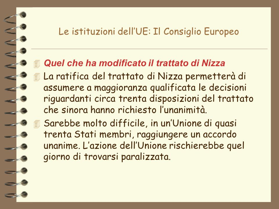 Le istituzioni dell'UE: Il Consiglio Europeo