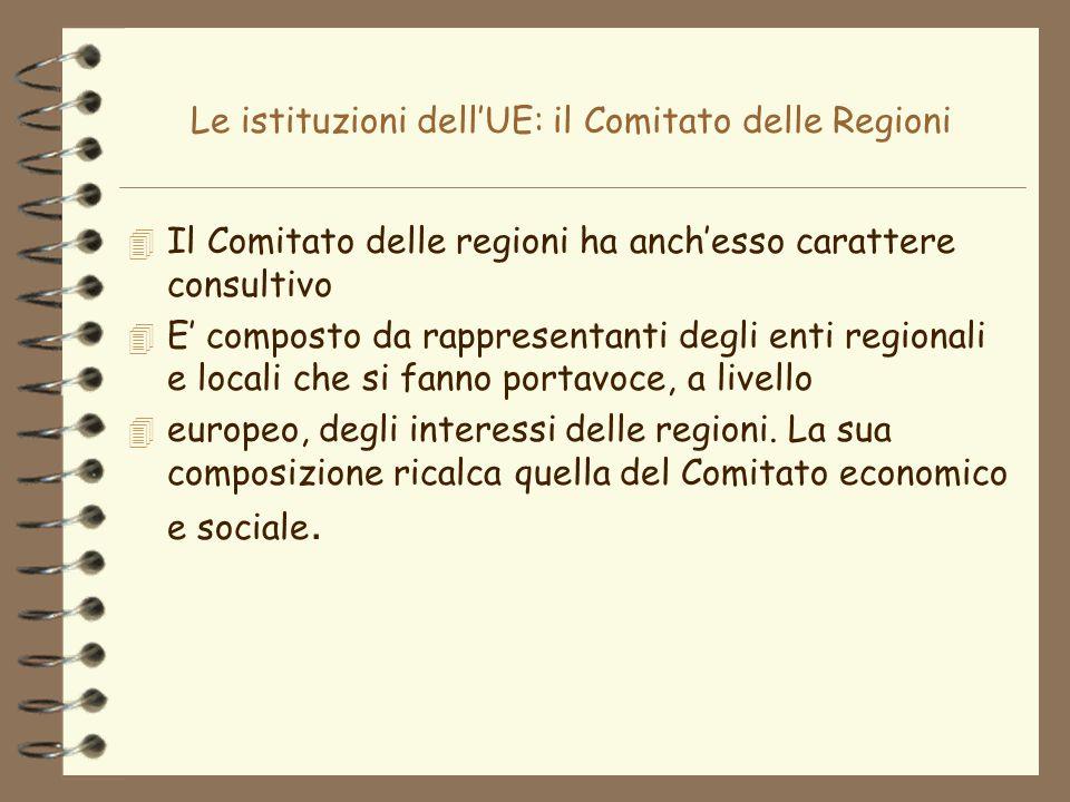 Le istituzioni dell'UE: il Comitato delle Regioni