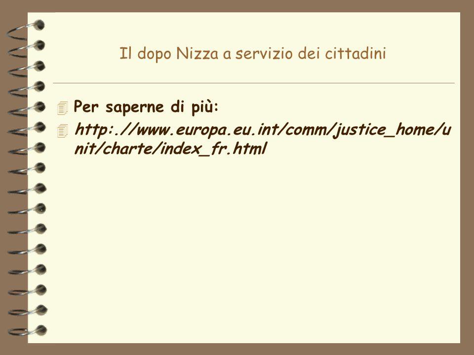 Il dopo Nizza a servizio dei cittadini