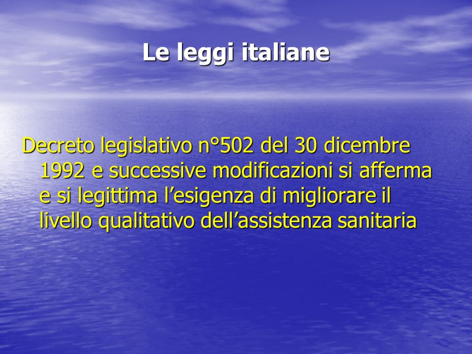 Le leggi italiane