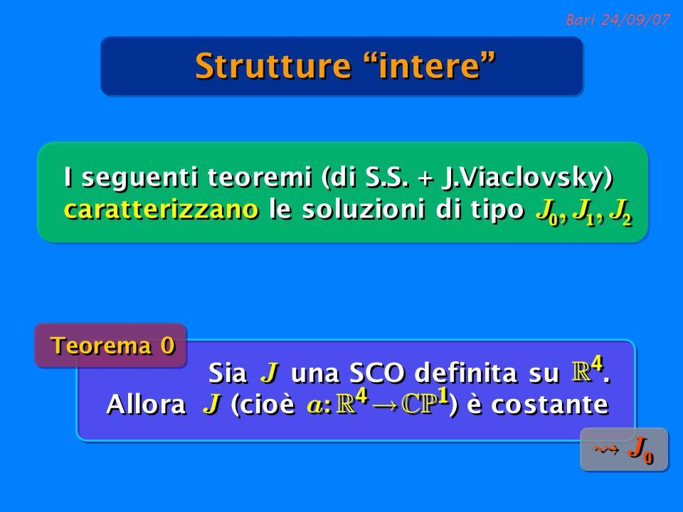 Strutture intere I seguenti teoremi (di S.S. + J.Viaclovsky) caratterizzano le soluzioni di tipo. Teorema 0.