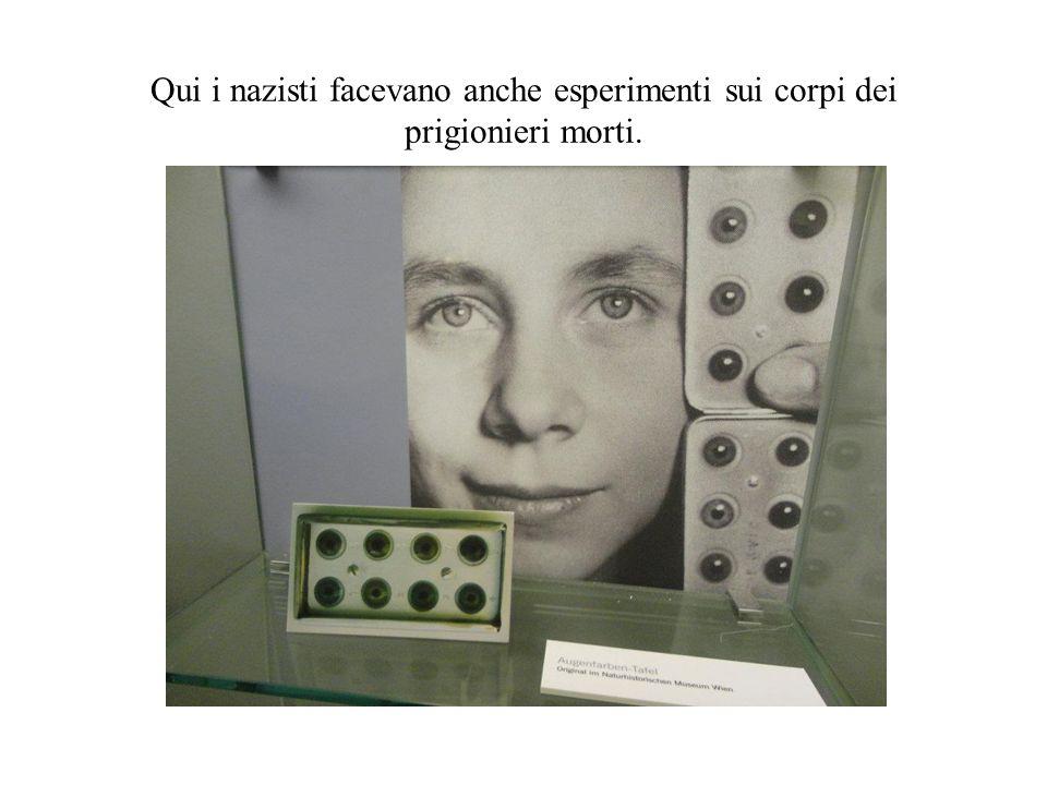 Qui i nazisti facevano anche esperimenti sui corpi dei prigionieri morti.