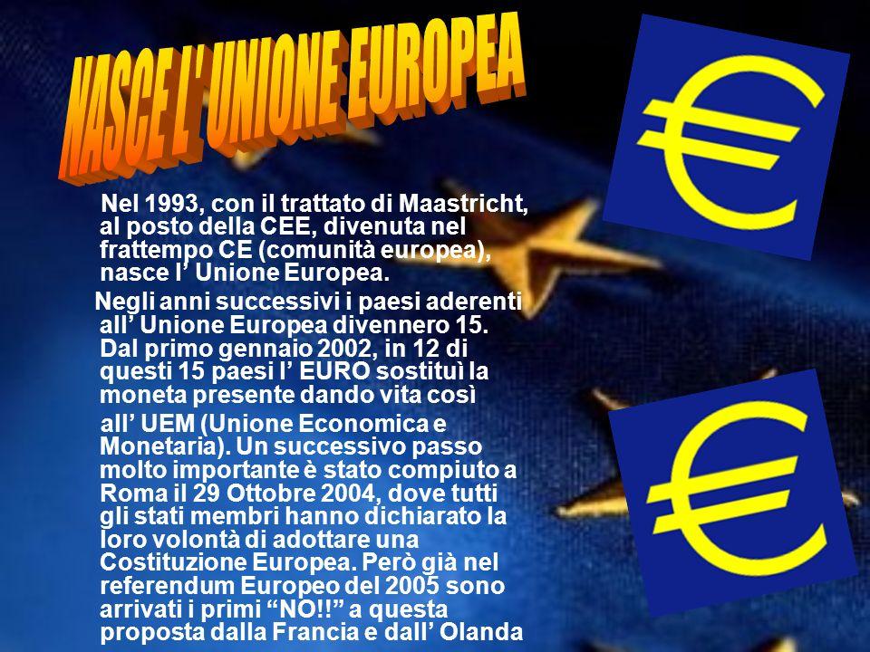 NASCE L UNIONE EUROPEA